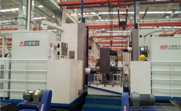 Dedicated double column boring and milling center